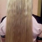Наращивание славянских волос ультразвуком. результат