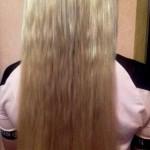Наращивание славянских волос ультразвуком. результат2